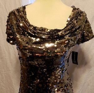 4 Holiday Sequin Tops Size Medium Michael Kors INC